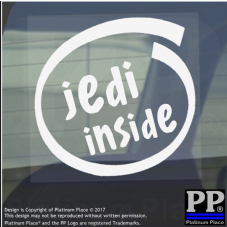 1 x Jedi Inside-Window,Car,Van,Sticker,Sign,Vehicle,Star,Wars,Space,Saber,Light